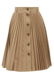 Red Valentino Redvalentino Buttoned Pleated Skirt Beige
