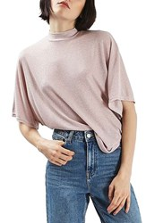 Topshop Women's Metallic Batwing Shirt