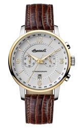 Ingersoll Grafton Chronograph Leather Strap Watch 42Mm