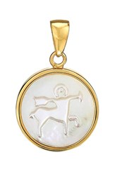 Asha Women's Zodiac Mother Of Pearl Charm Sagittarius