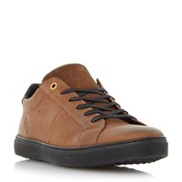 Dune Twister Lace Up Cupsole Trainers Tan