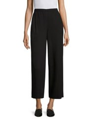 Eileen Fisher Wide Leg Ankle Pants Graphite Black