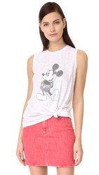 David Lerner Mickey Muscle Tank White
