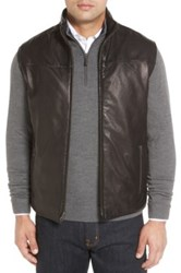 Remy Leather Reversible Lambskin Vest Black