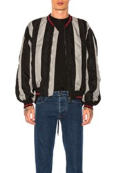 Y Project Striped Bomber Jacket In Black Gray Stripes Black Gray Stripes