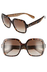 Kate Spade Women's New York 'Katels' 54Mm Sunglasses Havana Rose Gold Glitter Havana Rose Gold Glitter