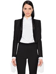 Antonio Berardi Cropped Cotton And Wool Blend Jacket