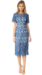 Keepsake The Moment Lace Dress Marine Blue