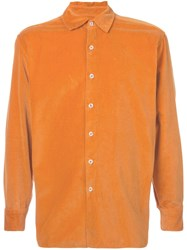 Casey Casey Textured Buttoned Shirt Yellow And Orange