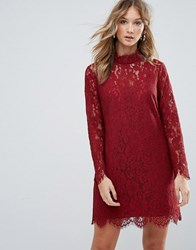 Deby Debo Dorothy Lace High Neck Dress Orange