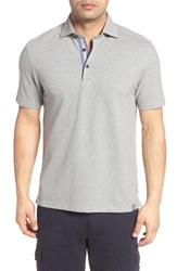 Thaddeus Men's Pierro Pique Polo Silver