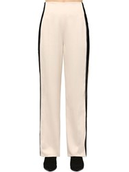 Haider Ackermann Viscose Pants W Side Bands White
