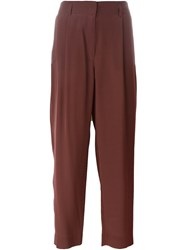 Dorothee Schumacher Cropped Trousers Red