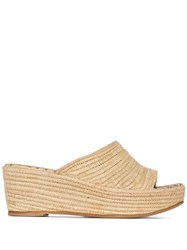 Carrie Forbes Karim 20 Raffia Wedge Sandals Neutrals