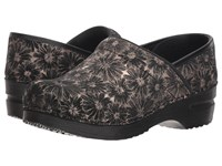 Sanita Professional Daisy Metallic Black Clog Shoes