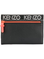 Kenzo Sport Clutch Women Calf Leather Polyester One Size Black