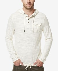 Buffalo David Bitton Men's Kifaro Burnout Hoodie Pearl