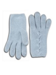 Portolano Cashmere Gloves Baby Blue Light Heather Grey Black Light Nile Brow