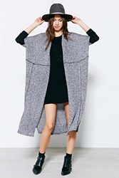 Silence And Noise Silence Noise Colorblock Seamed Cardigan Sweater Black