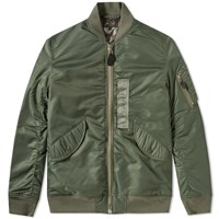 Beams Plus L 3B Down Bomber Jacket Green