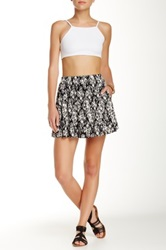 Lily White Pull On Skater Skirt Black