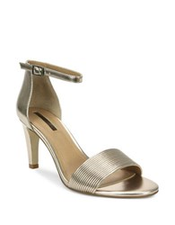 Tahari Novel Ankle Strap Sandals Bronze