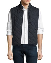 Ralph Lauren Diamond Quilted Vest Navy Blue