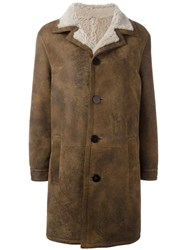 Neil Barrett Buttoned Mid Coat Brown