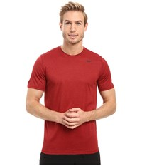 Nike Legend 2.0 Short Sleeve Tee Night Maroon Gym Red Black Men's T Shirt Brown