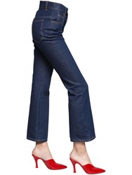 Attico Rosa Dark Wash Crop Cotton Denim Jeans