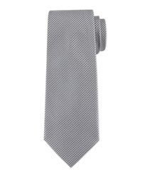 Clou De Paris Silk Tie Black Men's Davidoff
