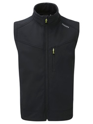 Tog 24 Reactor Casual Showerproof Full Zip Gilet Black