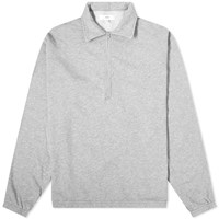 Save Khaki Supima Quarter Zip Sweat Grey