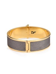 Diane Von Furstenberg Leather And Gold Plated Cuff
