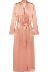 Galvan Satin Trench Coat Blush