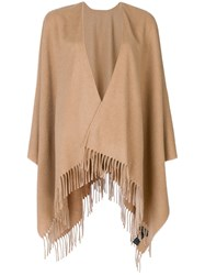 Rag And Bone Fringed Cashmere Cape Brown