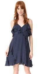 Cupcakes And Cashmere Morena Wrap Ruffle Dress Ink