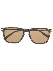Brioni Square Sunglasses Brown