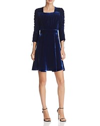 The Kooples Bliss Velvet Dress 100 Exclusive Navy