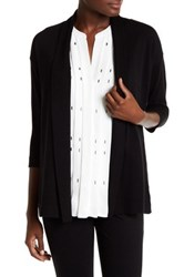 Chaus Open Front Cardigan Black