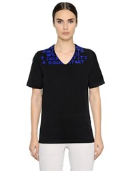 Maison Martin Margiela Aids Flocked Cotton Jersey T Shirt