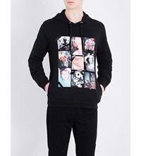 Kenzo Graphic Print Cotton Jersey Hoody Black