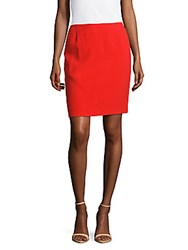 Akris Solid Fitted Skirt Red
