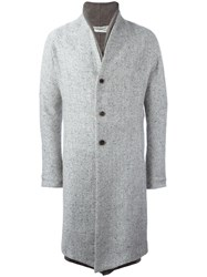 Individual Sentiments Double Lapel Coat Grey
