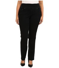 Jag Jeans Plus Size Peri Pull On Straight In Black Void Black Void Women's