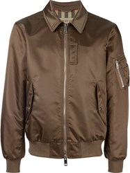 Burberry Bomber Jacket Nude And Neutrals