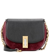 Marc Jacobs West End Jane Leather And Suede Crossbody Bag Red