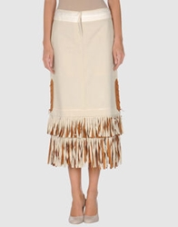 Martine Sitbon Long Skirts Beige