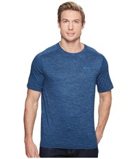 Marmot Ridgeline Short Sleeve Dark Indigo Heather Men's T Shirt Navy