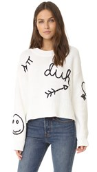 Wildfox Couture Duh Sweater White